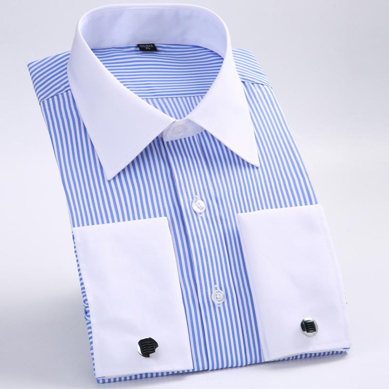 [해외]2017 새로운 남성 & 클래식 프랑스 커프스 단추 남성용 브랜드 공식 셔츠 긴 Retail 복장 셔츠 남성용 Camisa Masculina/2017 New Men&s Classic French Cufflinks Shirt Brand Formal Shir