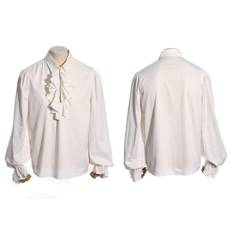 [해외]Steampunk 레트로 섹시한 남자 턱시도 셔츠 펑크 고딕 싱글 버튼 긴 Retail 셔츠 화이트 캐주얼면 셔츠 탑스/Steampunk Retro Sexy Man Tuxedo Shirts Punk Gothic Single Button Long Sleeve Sh