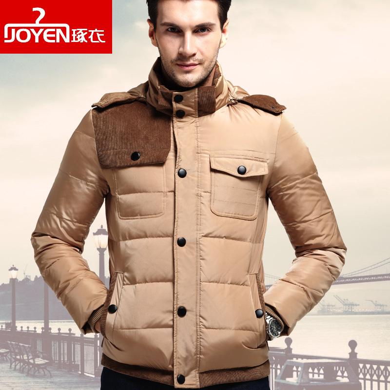 [해외]2016 봄 겨울 남성 다운 자켓 패션 다운 재킷 블랙 카키 플러스 사이즈 M-3XL 두꺼운 따뜻한 코트 아래로/2016 Spring Winter Men Down Coat  Fashion  Down Jackets Black Khaki Plus Size M-3XL
