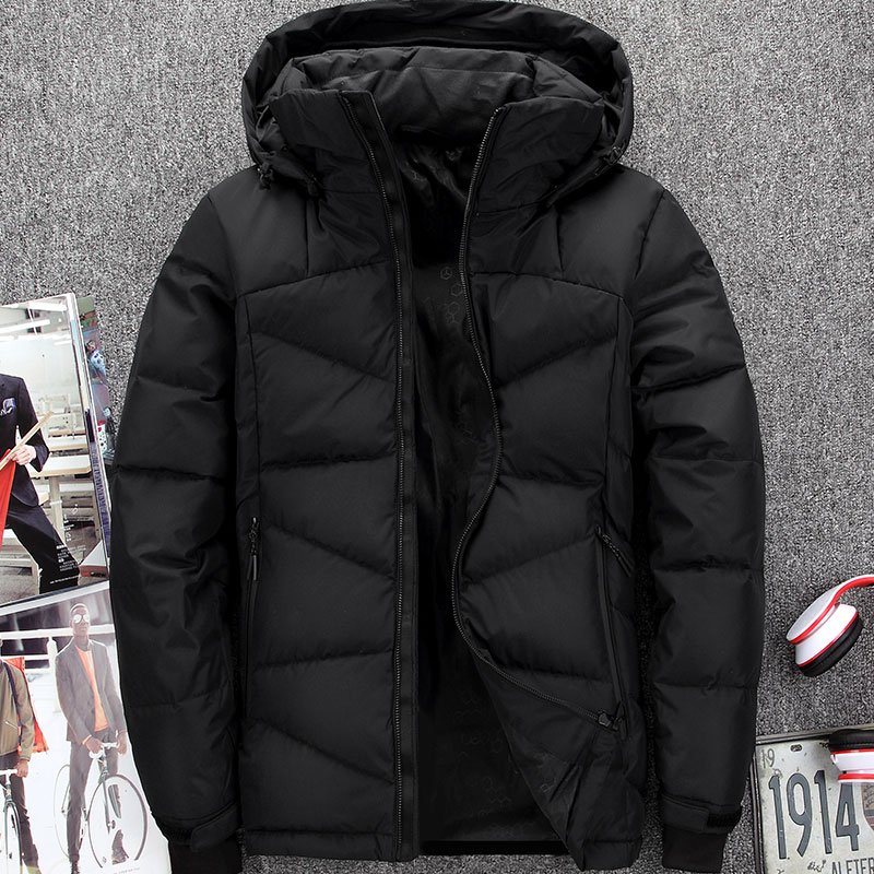 [해외]2017 남성 다운 겨울 자켓 남성 짧은 슬림 두께 아우터 블랙 그린 M L XL XXL XXXL/down coat 2017 men winter down jacket male short slim thick outerwear  BLACK GREEN  M L XL