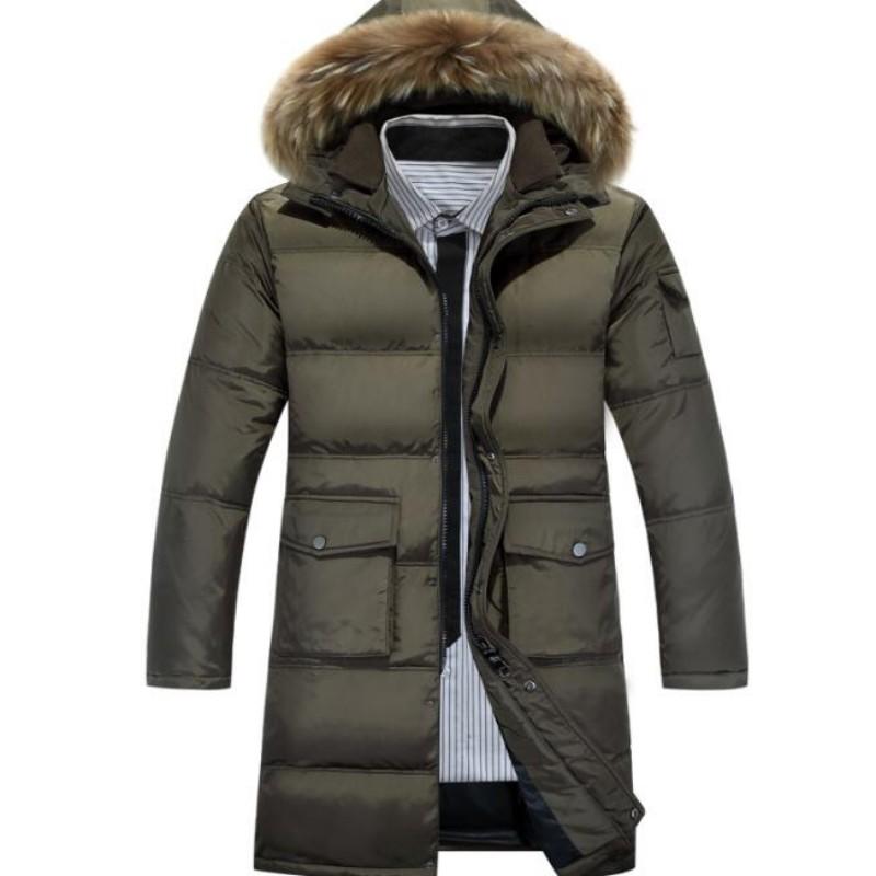 [해외]2017 화이트 오리 겨울 재킷 남성과 두꺼운 캐주얼 따뜻한 nagymaros 칼라 재킷 겨울 후드 브랜드 코트 파카 크기/2017 white duck down winter jacket men&s thickening casual warm nagymaros col