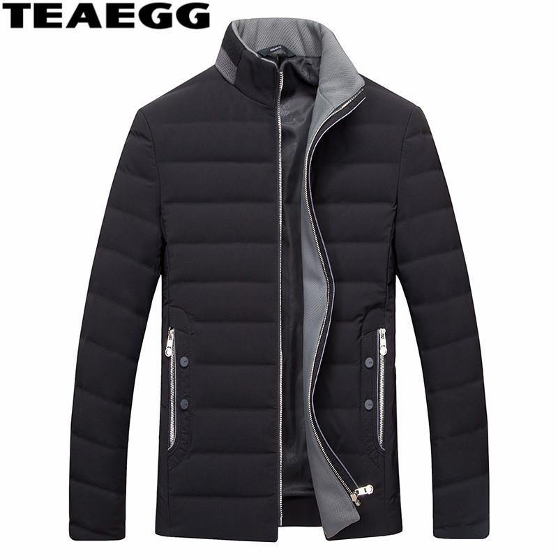 [해외]TEAEGG Black Man 다운 재킷 의류 Men & s Winter Coat Park 화이트 다운 웜 워밍 남성 자켓 아웃웨어 플러스 사이즈 5XL 6XL AL409/TEAEGG Black Man down jacket Clothing Men&s Wi