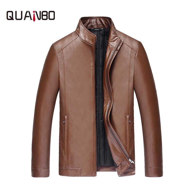 [해외]QUANBO 2017 신착 겨울 패션 오리 가죽 자켓 캐주얼 겨울 두꺼운 따뜻한 PU 가죽 남성 & 다운 코트 M-4XL/QUANBO 2017 New Arrival Winter Fashion Duck Down Leather Jacket Casual Win