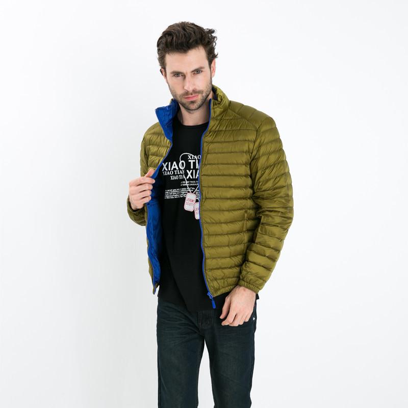 [해외]브랜드 Winter Jacket 남성 2017 New Couples Coats 초경량 슬림 피트 Stand-Collar Solid Parkas Duck 다운 재킷 4XL/Brand Winter Jacket Men 2017 New Couples Coats Ultr