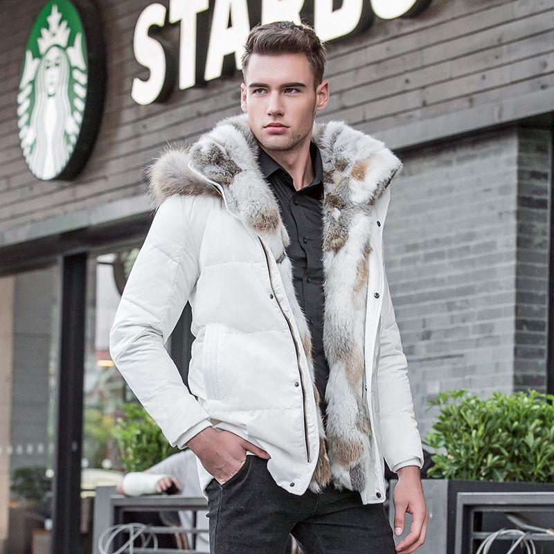 [해외]풀 사이즈 5XL 남성 & 레저 드레스 다운 재킷 겨울 두꺼운 후드 따뜻한 방수 코트 모피 칼라 밀리터리 재킷 082601/Plue size 5XL Men&s Leisure Duck Down Jacket Winter Thick Hood Warm Water