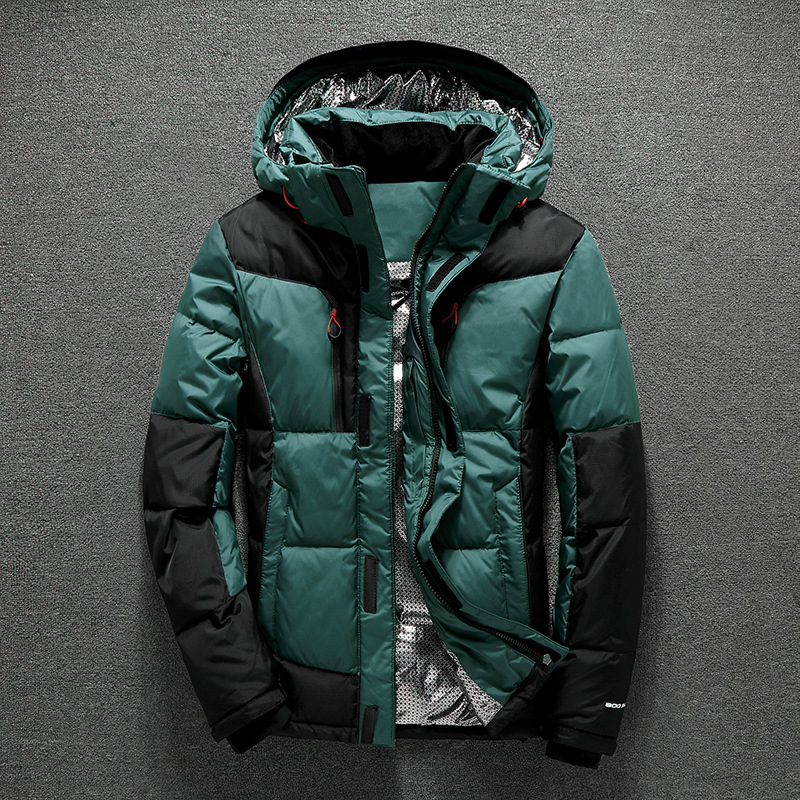 [해외]2017 겨울 남성 코트 다운 두꺼운 따뜻한 긴 Retail 남성 다운 재킷 모자 브랜드 남성 의류 -30도/2017 Winter Men Down Coat Thick Warm Long Sleeve Male Down JacketCap Brand Men&s Clot