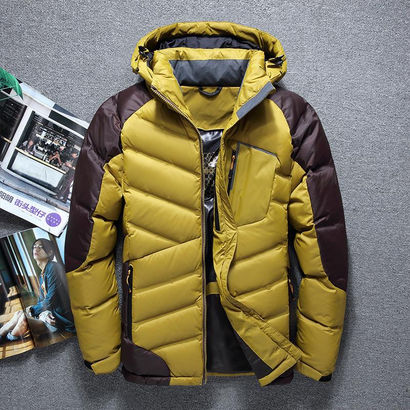 [해외]남자 & 후드 다운 자켓 코트 큰 사이즈 2017 겨울 자켓 남자 방수 파카 챠비 타스 롬브르 다운 코트/Men&s Hooded Down Jacket Coat Big Size 2017 Winter Jacket Men Waterproof Parka Chaq