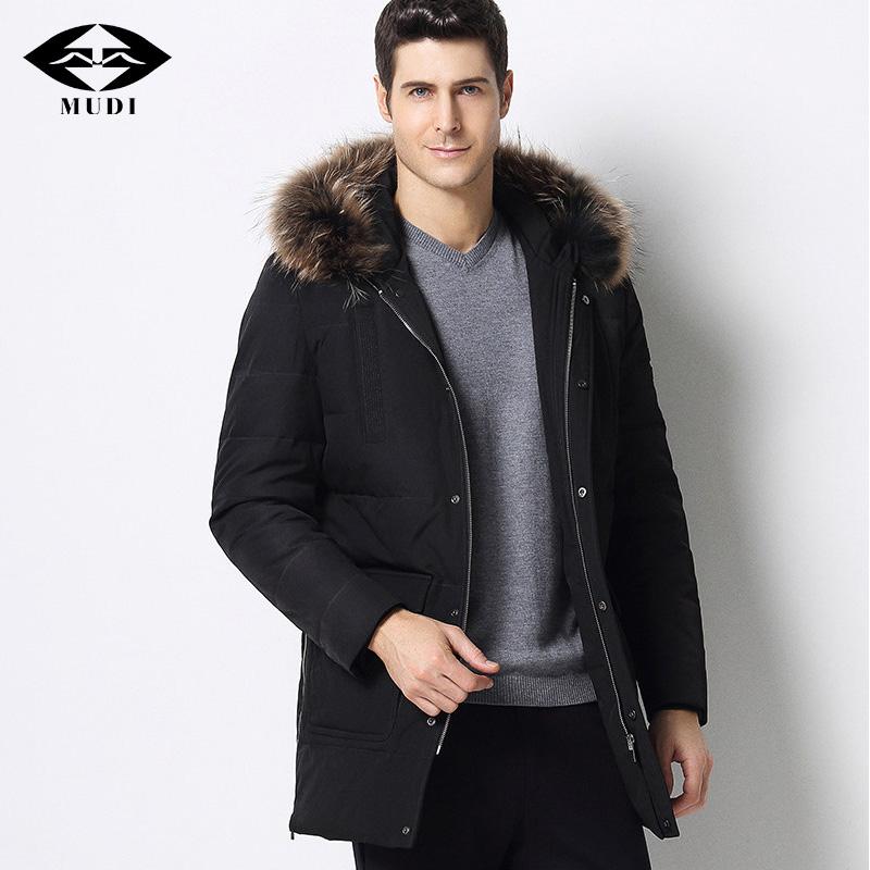 [해외]MUDI 브랜드 Mens Duck Down CoatsDetachable 리얼 폭스 모피 칼라 자켓 겨울 두꺼운 워밍업 코트 남성용 정장/MUDI Brand Mens Duck Down CoatsDetachable Real Fox Fur Collar Jackets