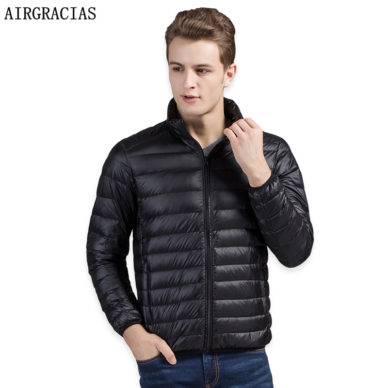 [해외]AIRGRACIAS 남성 다운 코트 라이트 다운 95 % White Duck Down Jacket Winter Thicken 웜 자켓 Mens Down 파카 브랜드 의류 LY008/AIRGRACIAS Men Down Coat Lightweight 95% Whit