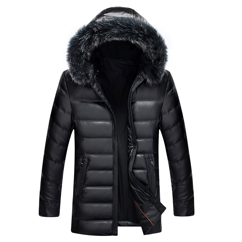 [해외]DZYS Men & s Duck Dow 자켓 모자 남성용 탈착식 여우 모피 칼라 다운 코트 파커/DZYS Men&s Duck Dow Jacket Hat Detachable Fox Fur Collar Down Coat Parkas for Men Male