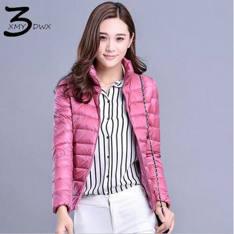 [해외]신제품 XMY3DWX 신제품 여성 따뜻한 보온성이 뛰어난 초박형 90 % 다운 다운 자켓 화이트 / 칼라 스탠드 여성 캐주얼 다운 코트 S - XXXL/XMY3DWX new Fashion women keep warm Super light thin 90% Whit