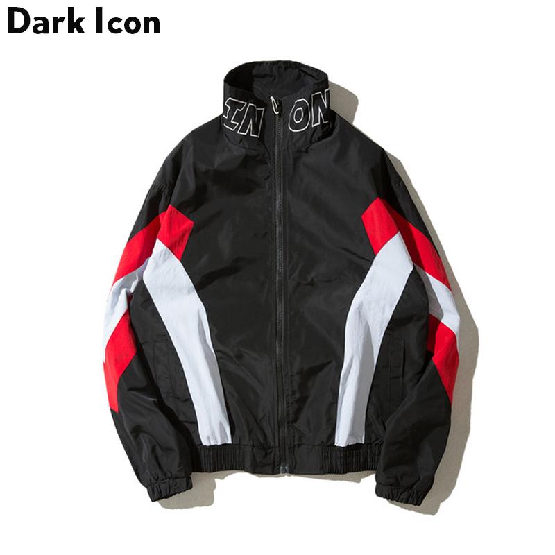 [해외]DARKICON 컬러 블록 스탠드 칼라 Streetwear 남자 & 자켓 2017 가을 캐주얼 자켓 남자/DARKICON Color Block Stand Collar Streetwear Men&s Jacket 2017 Autumn Casual Jacket