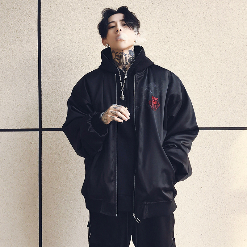 [해외]자켓 자켓 가을 봄 Ma1 재킷 폭격기 코트 얇은 여성 남성 힙합 패션 Streetwear 우리 크기 XS-XL/Embroidery Jacket Autumn Spring Ma1 Jacket Bomber Coat Thin Women Men Hip Hop Fashi