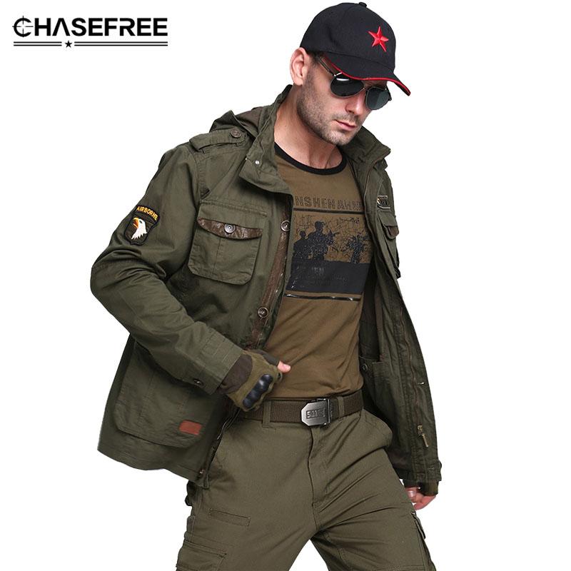 [해외]M65 미국 공군 폭탄 군대 전술 재킷 남자 겨울 가을 전투 멀티 포켓 코트 후드 재킷 재킷 밀리터리 재킷/M65 US Air Force Bomber Army Tactical Jackets Men Winter Autumn Combat Multi Pocket Co