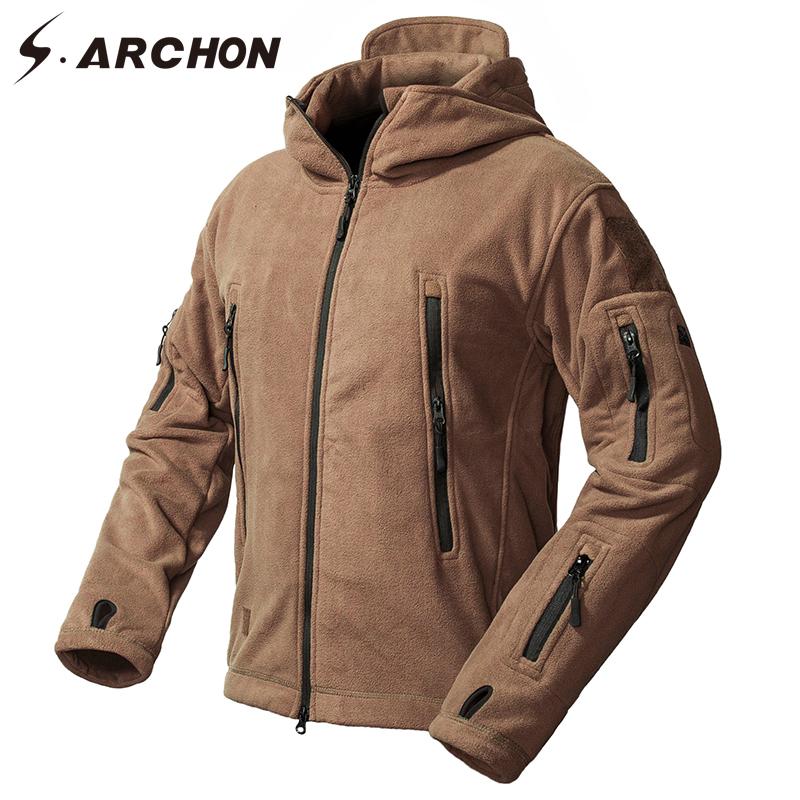 [해외]S.ARCHON 겨울 Windproof 밀리터리 양털 자켓 남자 따뜻한 Thicken Windbreaker 전술 재킷 코트 두건 된 열 군대 옷/S.ARCHON Winter Windproof Military Fleece Jackets Men Warm Thicke