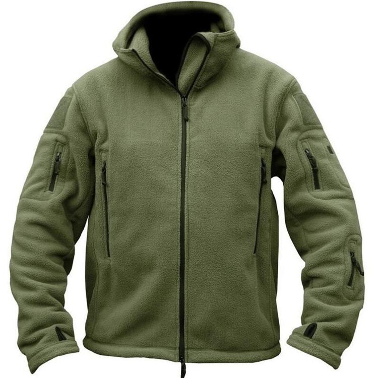 [해외]겨울 군용 양털 따뜻한 전술 재킷 남자 열전달 통풍 후드 남자 코트 외투 육군 녹색 멀티 포켓 윈드 브레이커/Winter Military Fleece Warm Tactical Jacket Men Thermal Breathable Hooded men Coat Ou