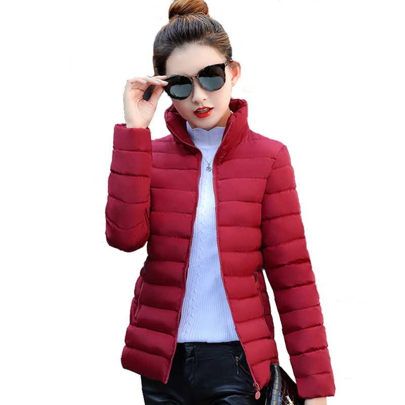 [해외]여성 겨울 자켓 스탠드 칼라 단색 가을 여성 코트 Outwear Ladies Casaco Feminina Inverno/Women Winter Basic Jacket Stand Collar Solid Color Autumn Female Coat Outwear L