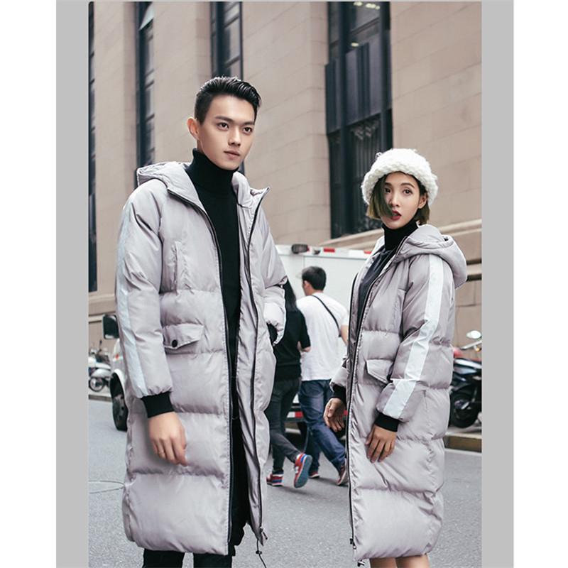 [해외]따뜻한 겨울 자켓 남자 브랜드 의류 긴 두꺼운 코트 남성 최고 후드 파카 여성 패션 고체 코트 외투/new arrival warm winter jacket men brand clothing long thick coat male top hooded parkas w