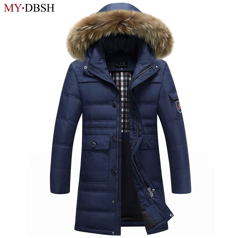 [해외]겨울 따뜻한 후드 남성 다운 재킷 캐주얼 X-Long Duck Down Parkas & amp; 자켓 Thicken Outwear 패션 솔리드 파커/Winter Warm Hooded Men Down Jackets Casual X-Long Duck Down