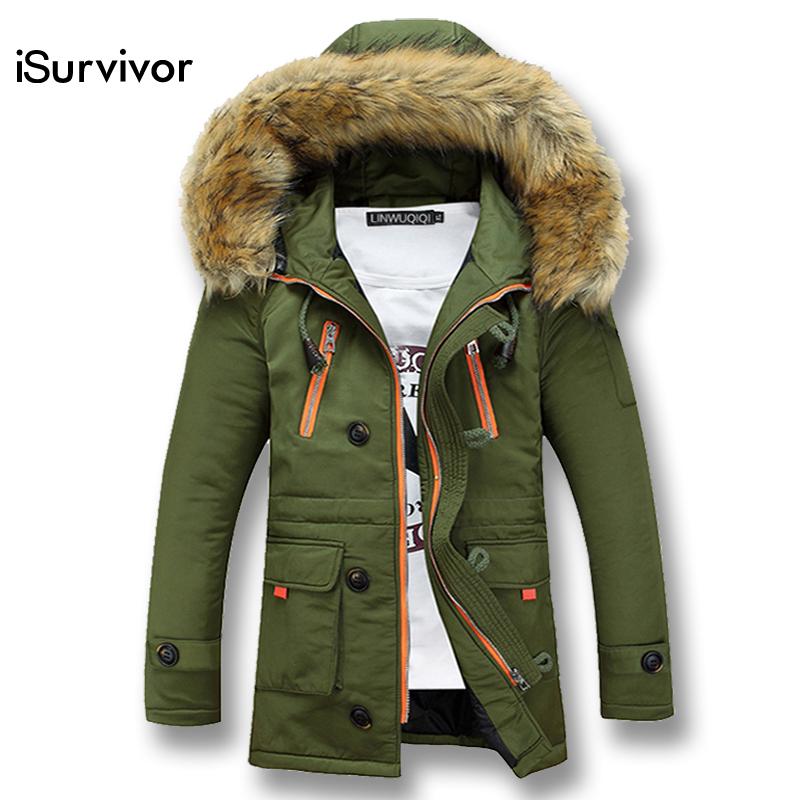 [해외]겨울 남성 자켓 패션 남성 Outwears 후드 두꺼운 남성 파커 iSurvivor 2017 남자 따뜻한 코트 슬림 휘트니스/Winter Men Jacket Fashion Men Outwears Hooded Thick Men Parkas iSurvivor 201
