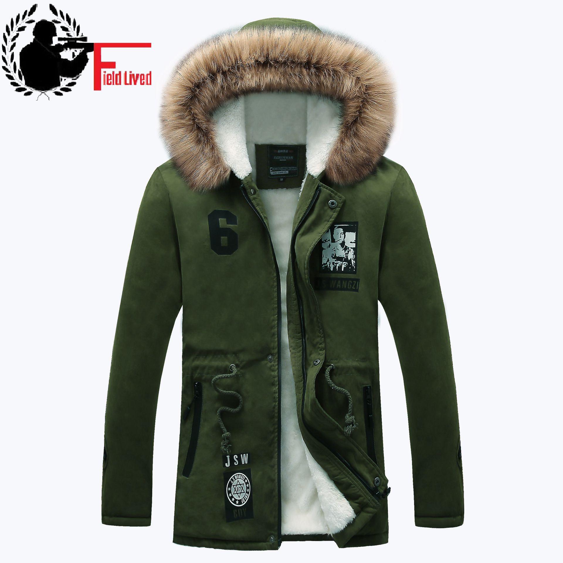 [해외]두꺼운면 편안한 롱 파 카 남성 캐주얼 슬림 맞는 후드 모피 겨울 자 켓 남성 코트 따뜻한 외투 2017 Chaqueta Hombre/Thick Cotton Comfortable Long Parka Male Casual Slim Fit Hooded Fur Win