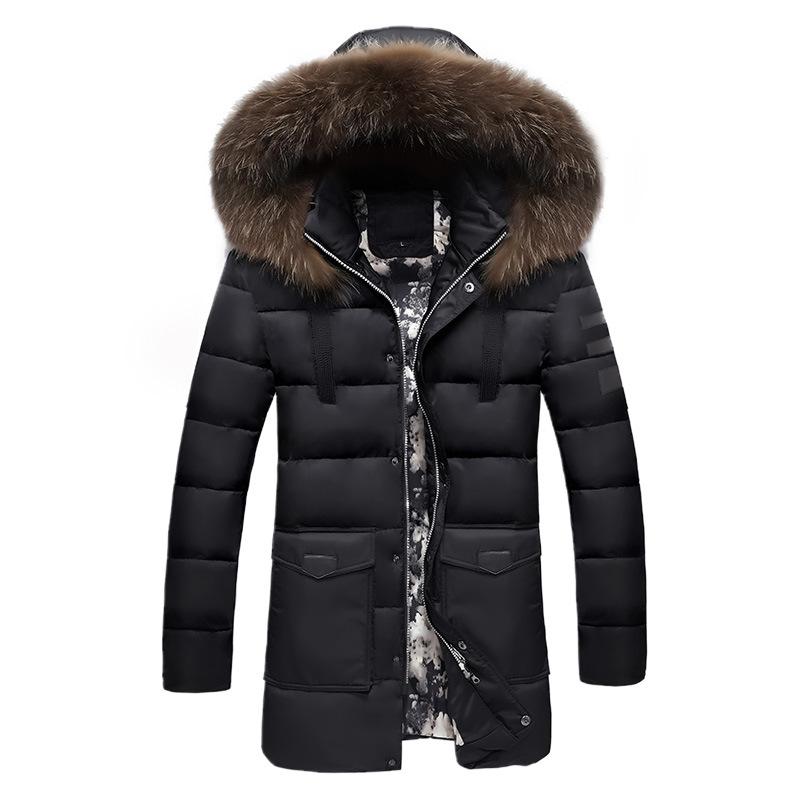 [해외]겨울 자켓 남자 2018 모피 칼라 오버 사이즈 롱 파커 남성 & 오버 코트 두꺼운 푹신한 사이드 지퍼 캐주얼 후드 자켓 코트/Winter Jackets Men 2018 Fur Collar Oversized Long Parkas Men&s Overcoat
