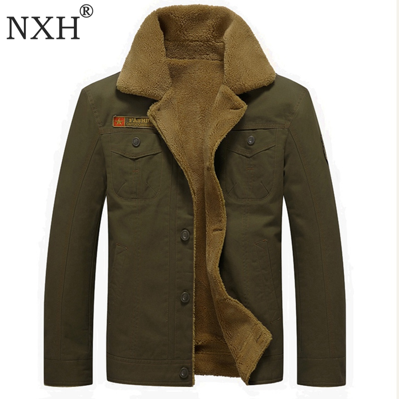 [해외]NXH 2018 겨울 남성용 자켓 남성 따뜻한 코트 Windproof Cashmere 지퍼 내부 가방 플러스 사이즈 블랙 카 하키 육군 녹색/NXH 2018 Winter Men&s jackets  Male Warm coats Windproof Cashmere