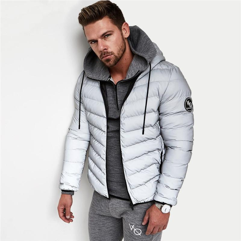 [해외]2017 신사복 후드 자켓 두꺼운 소재 보온성 후드 자켓 패치 워크 보디 맨 후디 의류/2017 New Men&s Hooded jacket Thick material warmth Fitness Hooded jacket Patchwork bodybuilding M
