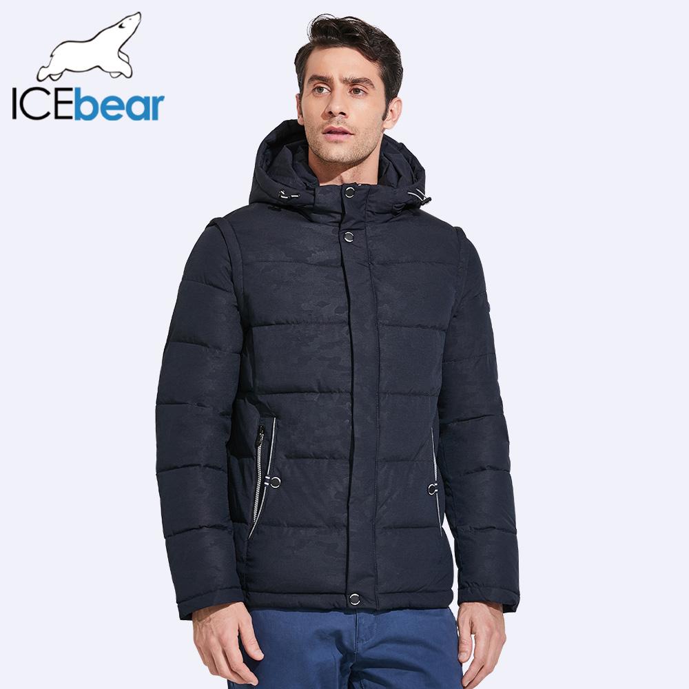 [해외]ICEbear 2017 캐주얼 남성 겨울 코트 더블 깃털 더블 Windproof 스타일 간결한 직물 17MD923D/ICEbear 2017 Casual Men Winter Coat Double Placket Double Windproof Style Concise