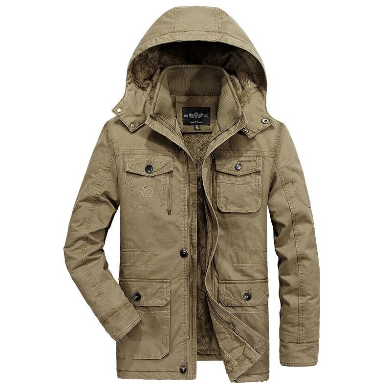 [해외]2017 새로운 가을 겨울 겉옷 클로 젯 양털 자켓 7XL 8XL 남자 코트 주머니 후드 플러스 크기 캐주얼 파카 & amp; 다운 코트/2017 New Autumn Winter Outwear CLOTHES Fleece Jackets 7XL 8XL Men
