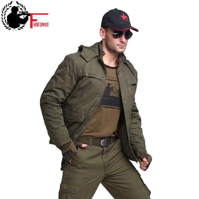 [해외]2017 겨울 남성 자켓 밀리터리 스타일 패션 후드 플러스 사이즈 두꺼운 캐주얼 자켓 코트 남성 군대 그린 파카 오버 코트 옴므 4XL/2017 Winter Men Jacket Military Style Fashion Hooded Plus Size Thick C