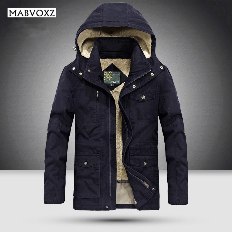 [해외]-25도 남성 자켓 및 코트 겨울 두꺼운 남자 & s 공원 비즈니스 캐주얼 브랜드 의류 블랙 모피 내부 데님 100 % 코 튼/-25 Degree Mens Jackets and Coats Winter Thick Men&s Park Business Casu