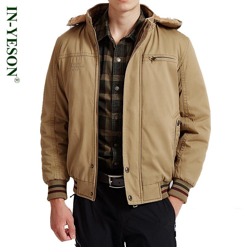 [해외]IN-YESON 브랜드 밀리터리 남성 및 겨울 자켓 두꺼운 패딩 된 파카 남성 자켓 코트 러시아의 스포츠 용 재킷 오버 코트 남성 양털 자켓/IN-YESON Brand Military Men&s Winter Jacket Thick Padded Parka Men