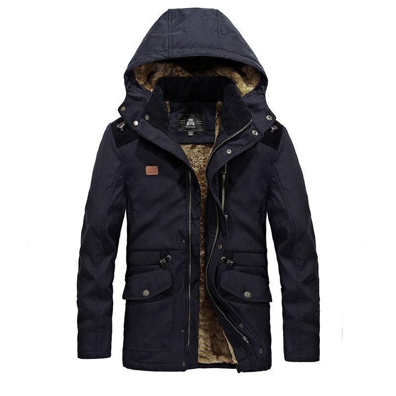 [해외]겨울 Parkas 양털 남성 Thicken Coats Jackets M3XL 캐주얼 패션 Warm Multi-Pocket ping 브랜드 의류 자켓 코트/Winter Parkas Fleece Men Thicken Coats Jackets M3XL Casual F