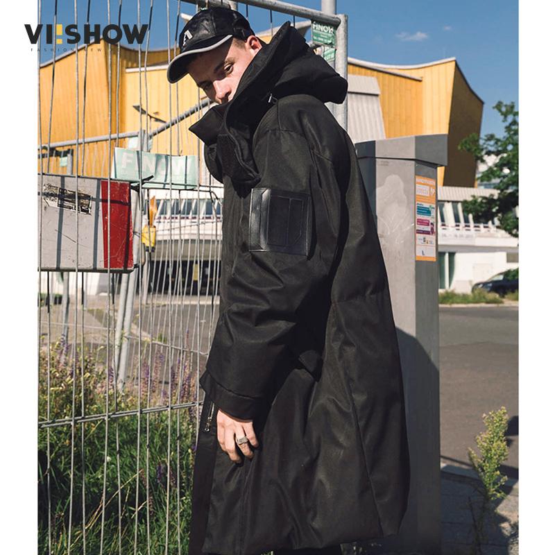 [해외]VIISHOW 신사복 재킷 긴 두꺼운 겨울 코트 남성 솔리드 파카 패션 오버 코트 겉옷 블랙 Jaqueta Masculino Inverno/VIISHOW New Clothing Jackets Long Thick Winter Coat Men Solid Parka