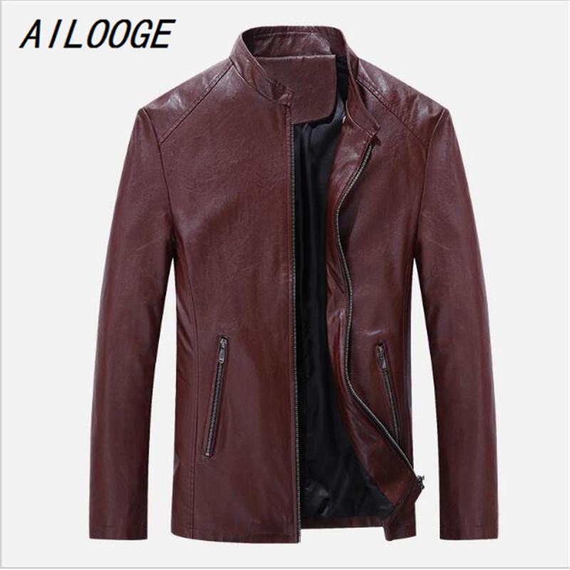 [해외]AILOOGE 5XL 2017 새로운 패션 가을 남성 PU 가죽 자켓 슬림 피트 남성 코트 브랜드 스웨이드 자켓 Jaqueta de couro/AILOOGE 5XL 2017 New Fashion Autumn Men PU Leather Jackets Slim Fi