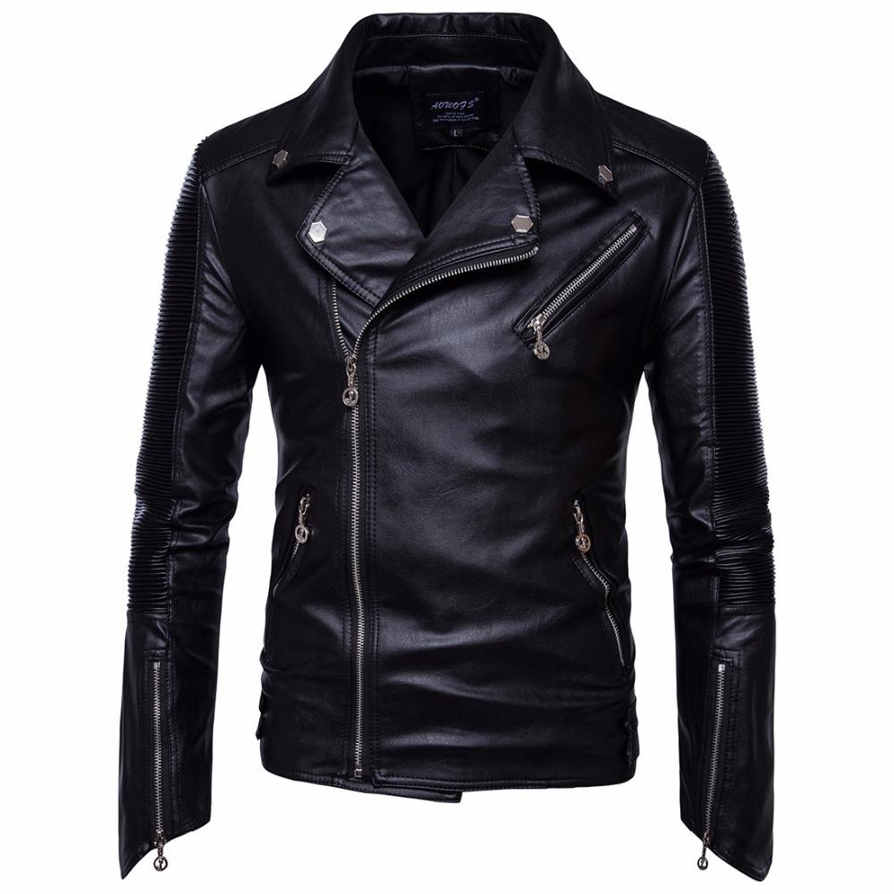 [해외]2017 패션 독일 오토바이 타는 사람 가죽 재킷 코트 남자 가을 겨울 방풍 스노우 따뜻한 코트 파일럿 재킷 남성 의류/2017 Fashion Germany Motorcycle Biker Leather Jacket Coat Men Autumn Winter Win