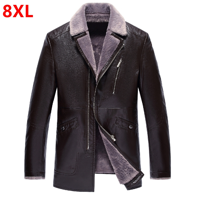 [해외]겨울 대형 PU 가죽 인형 남성 및 중년 남성 플러스 캐시미어 두꺼운 겨울 재킷 자켓/Winter large size PU leather dolls men and middle-aged men plus cashmere thick winter jacket jacke