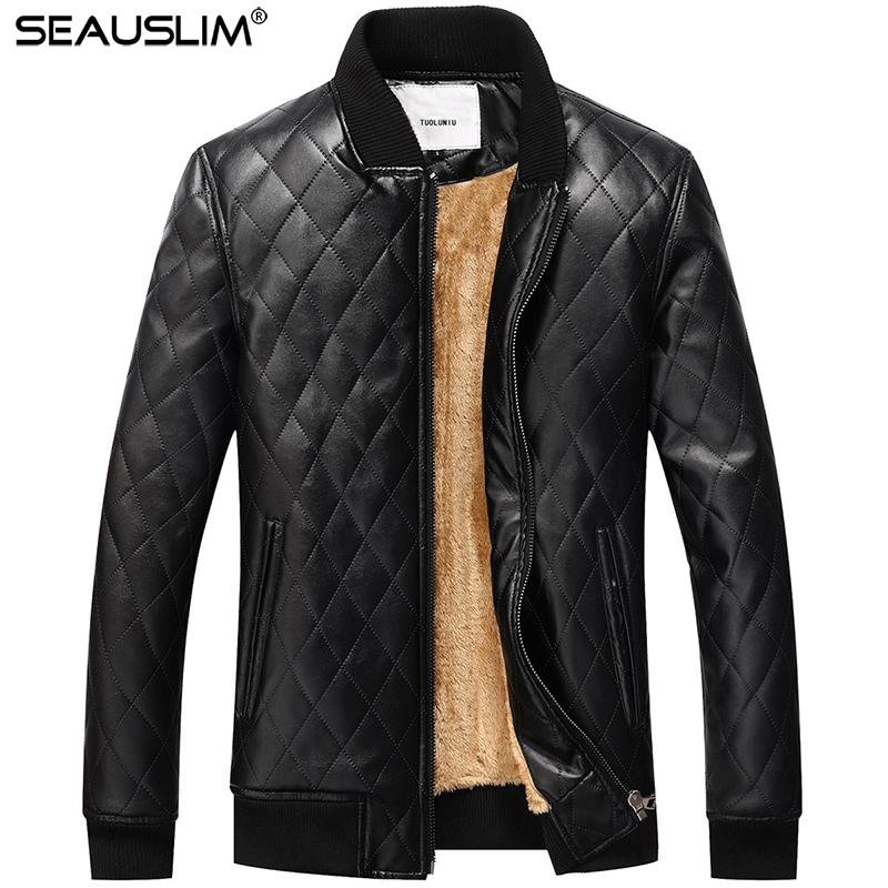 [해외]SEAUSLIM 2017 가죽 자켓 남자 코트 겨울 양털 오토바이 타는 사람 자 켓 PU 파일럿 가죽 자 켓 3XL erkek 몽 LQ-DDBE-04/SEAUSLIM 2017 Leather Jacket Men Coat Winter Fleece Motorcycle