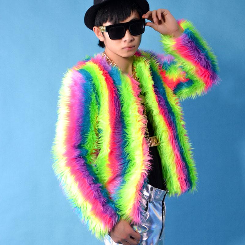 [해외]2017 새로운 사계절 남자 & 가짜 여우 모피 코트 하이 엔드 남자 & s의 자켓 컬러 가수 루스 폭스 머리 긴 Retail 코트 패션 쿨/2017 New Four Seasons man&s Faux fox fur coat High-end man&