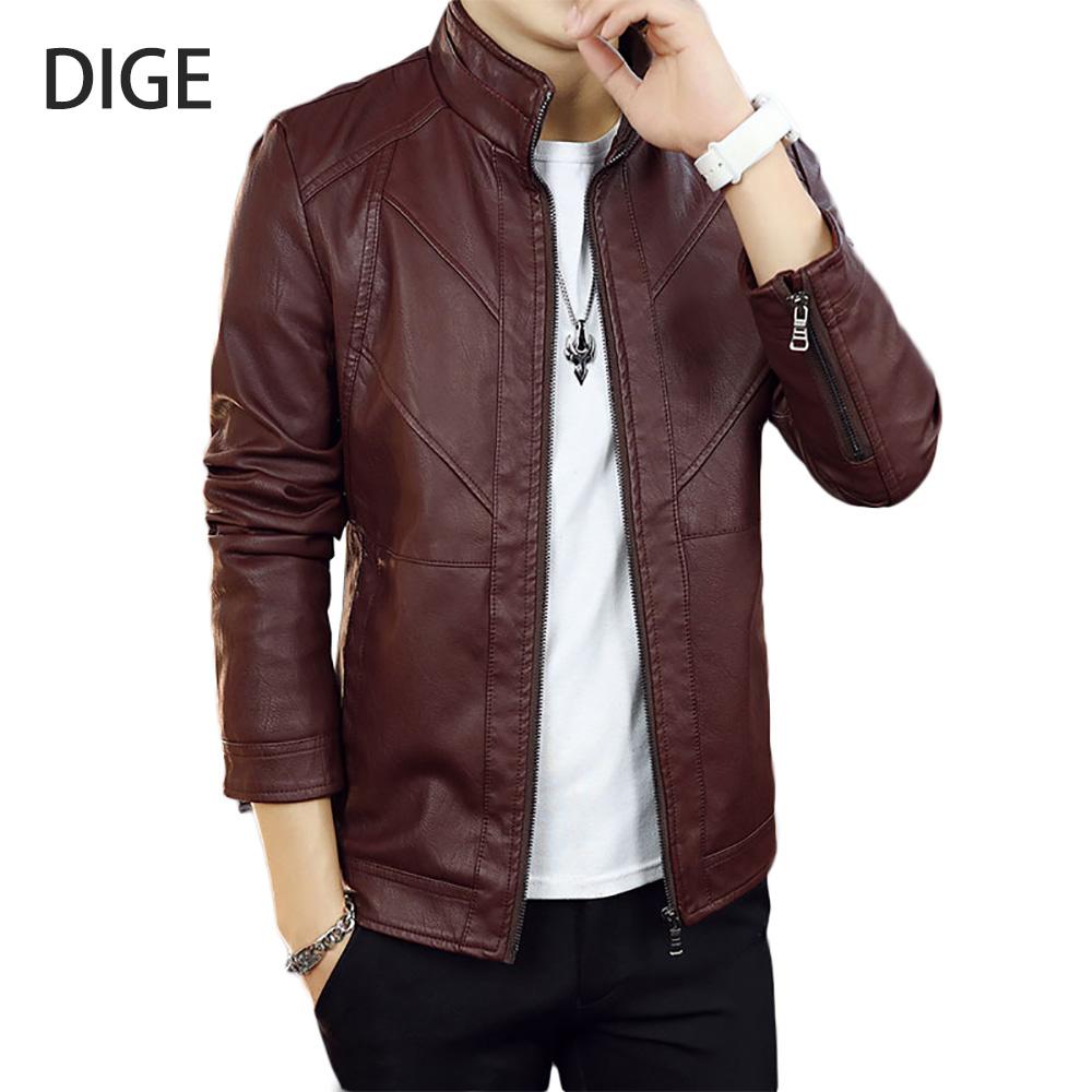 [해외]2017 가죽 자 켓 남자 & 자 켓 Outwear 남자 & s 코트 봄가 PU 자 켓 드 Couro 코트 크기 M-3XL B0192/2017 New Arrival Leather Jackets Men&s Jacket Outwear Men&s Coa
