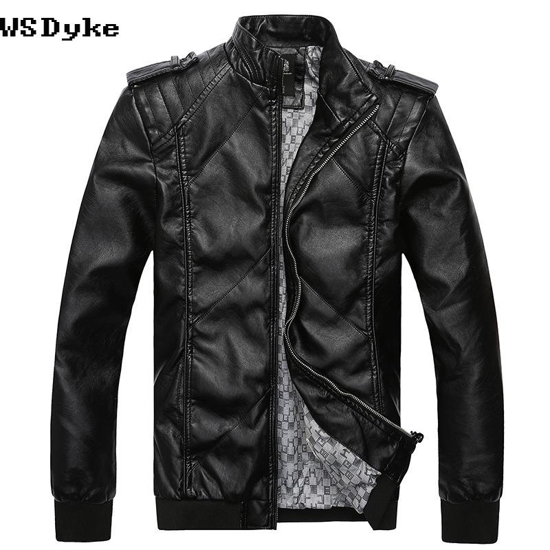 [해외]패션 우수한 품질 Chaqueta Cuero Hombre Motociclista 스탠드 칼라 슬림 피트 가죽 자켓 남자/Fashion Excellent Quality Chaqueta Cuero Hombre Motociclista Stand Collar Slim