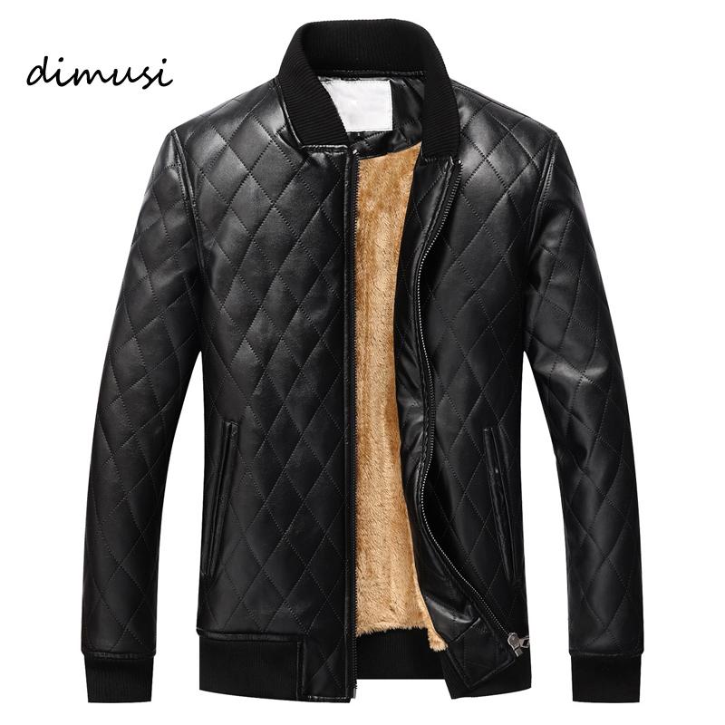 [해외]DIMUSI 남성 겨울 가죽 자켓 남성 양털 두꺼운 따뜻한 오토바이 PU 자켓 남성 비즈니스 캐주얼 코트 veste en cuir 미국 크기/DIMUSI Men Winter Leather Jacket Male  Fleece Thick Warm Motorcycle