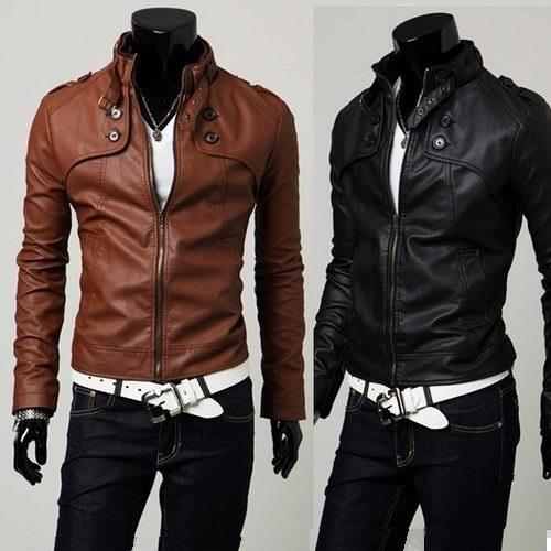 [해외]2015autumn 패션 슬림 스탠드 칼라 겉옷 남자 & s 의류 남성 가죽 의류/2015autumn fashion slim stand collar outerwear men&s clothing male leather clothing