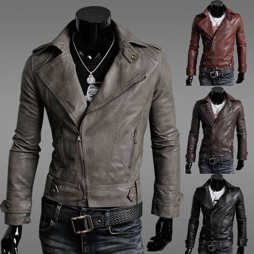 [해외]?2014 남자 PU 가죽 자 켓 가을 겨울 정장 남자 패션 슬림 코트 자 켓 -7938/ 2014 Men PU Leather Jacket Autumn Winter Suit Men Fashion Slim Coat JACKETS-7938