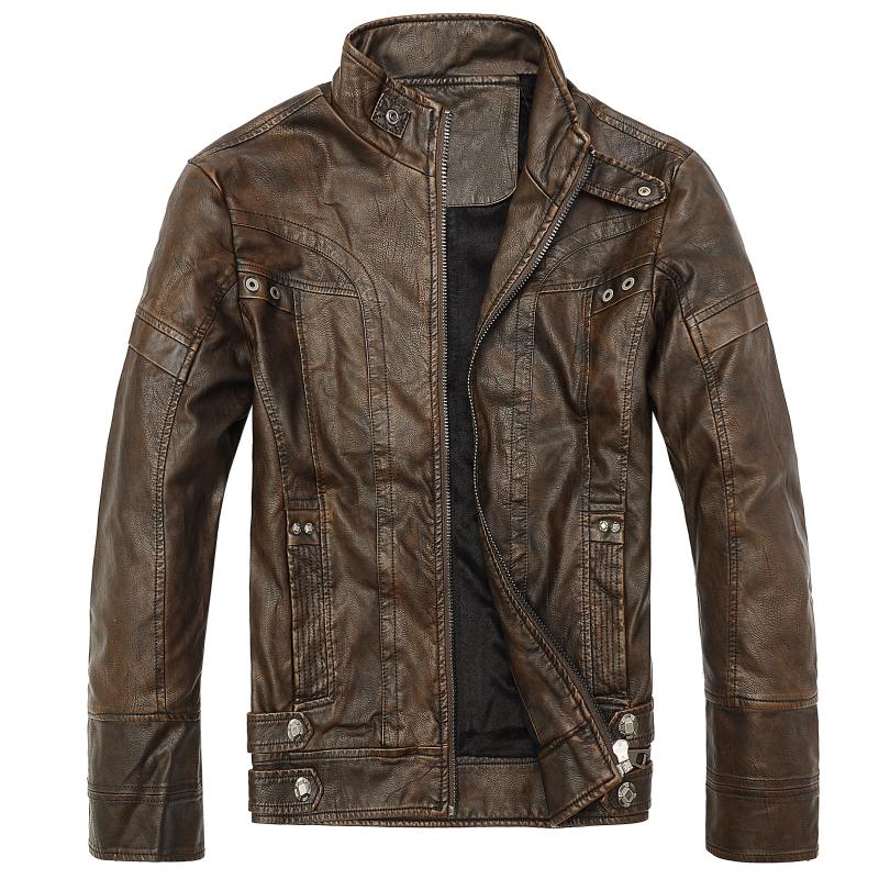 [해외]오토바이 가죽 자켓 남성 가을 겨울 가죽 의류 남성 가죽 자켓 남성 비즈니스 캐주얼 코트/Motorcycle Leather Jackets Men Autumn Winter Leather Clothing Men Leather Jackets Male Business