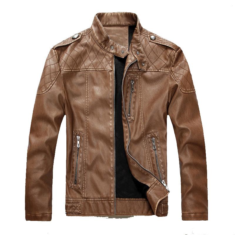 [해외]?오토바이 가죽 자켓 남성 가을 겨울 가죽 의류 남성 가죽 자켓 남성 비즈니스 캐주얼 코트 두꺼운/ Motorcycle Leather Jackets Men Autumn Winter Leather Clothing Men Leather Jackets Male Bus