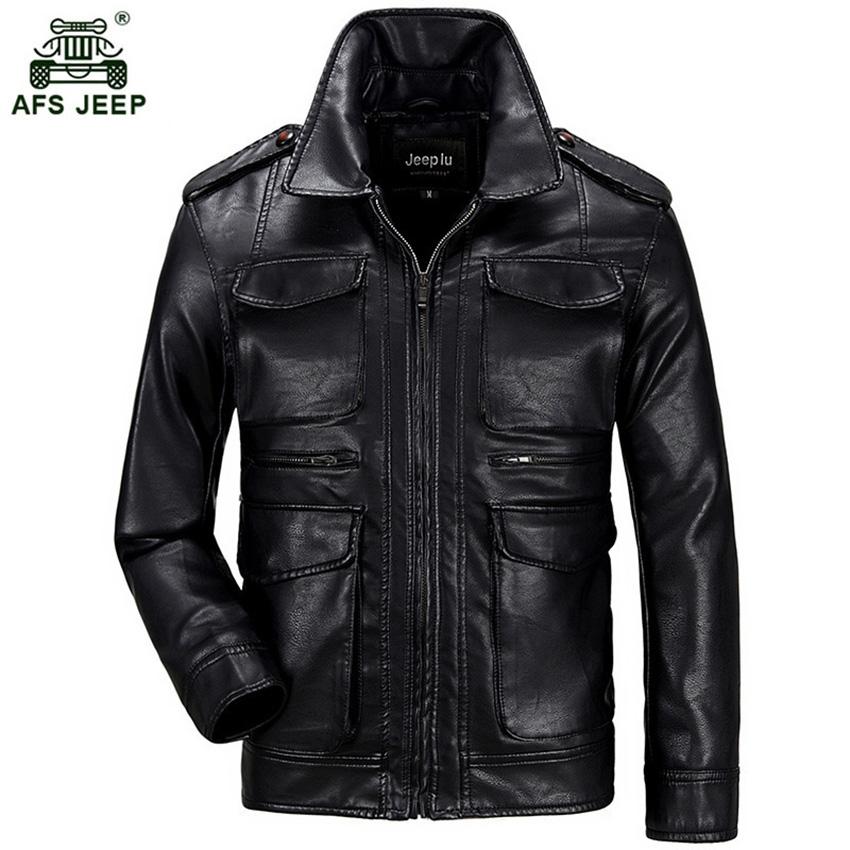 [해외]2017 Afs 지프 새로운 봄 가을 남성 부드러운 PU 가죽 자 켓 남성 비즈니스 캐주얼 코트 남성 핫 세일 크기 3XL 150zr/2017 Afs jeep New Spring Autumn Men Soft PU Leather Jacket Men Business