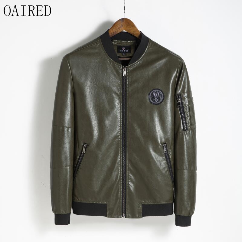 [해외]OAIRED 플러스 사이즈 가죽 코트 남자 2018 새로운 패션 오토바이 가죽 자켓 남자 짧은 슬림 가죽 의류 남성 아우터/OAIRED Plus Size Leather Coat Men 2018 New Fashion Motorcycle Leather Jacket