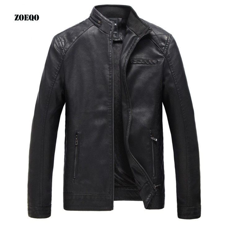[해외]ZOEQO 가죽 자켓 남자 패션 가을 오토바이 PU 가죽 남성 겨울 자켓 겉옷 Faux Leather Coat PU Jacket for Men/ZOEQO Leather Jacket Men Fashion Autumn Motorcycle PU Leather Male